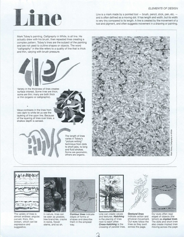 Lesson Plans Ms KayRivera – Elements and Principles of Art Worksheet